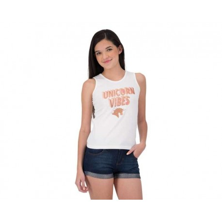 Blusa marca Up & Down Girls Blanca Juvenil