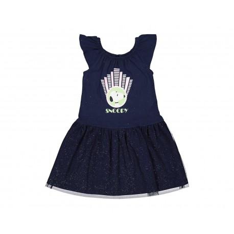 Vestido Azul Marino marca Snoopy para Niña