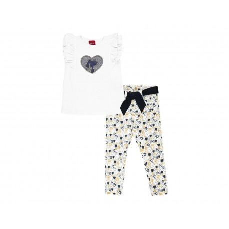 Conjunto marca Snoopy para Bebé Niña