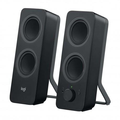 Bocinas Logitech Z207 color Negro con Bluetoohth 2.0 y Conexión 3.5 PC/MAC/MP3