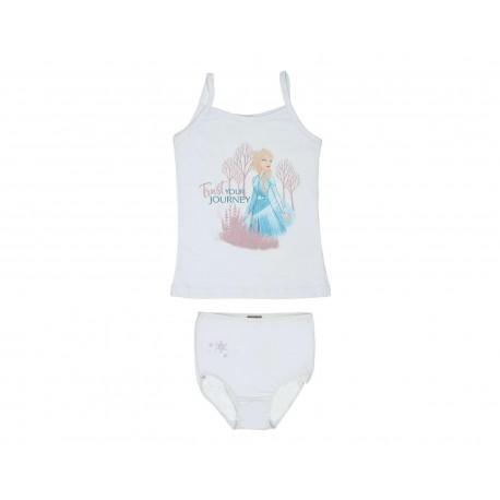 Coordinado de Blusa y Pantaleta color Blanco marca Disney para Niña