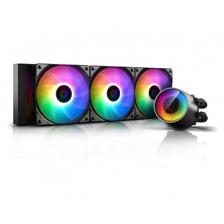 Sistema de Enfriamiento Deepcool Castle 360 color Negro RGB Cpu Amd Intel