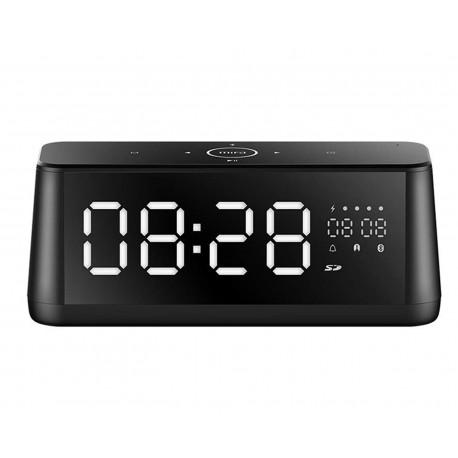 Bocina con Alarma y Despertador Zeta Alarm1 color Negro con Pantalla Led de Espejo